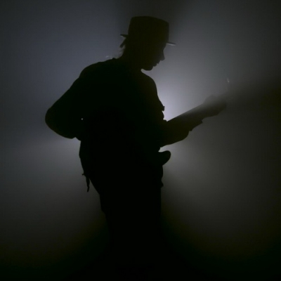 Bass Player Silhouette-7